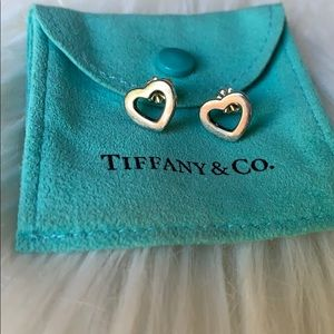 Tiffany & Co. sterling silver heart earrings